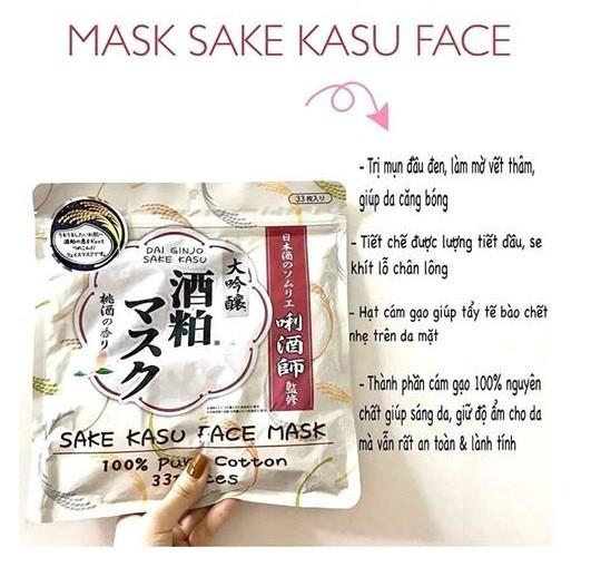 Mặt nạ Sake Nhật Bản - Mặt nạ Sake Nhật Bản 3