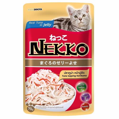 Pate Nekko cho mèo vị cá ngừ và chả cá Nhật dạng thạch 70g - 6021235 , 12532377 , 15_12532377 , 18000 , Pate-Nekko-cho-meo-vi-ca-ngu-va-cha-ca-Nhat-dang-thach-70g-15_12532377 , sendo.vn , Pate Nekko cho mèo vị cá ngừ và chả cá Nhật dạng thạch 70g