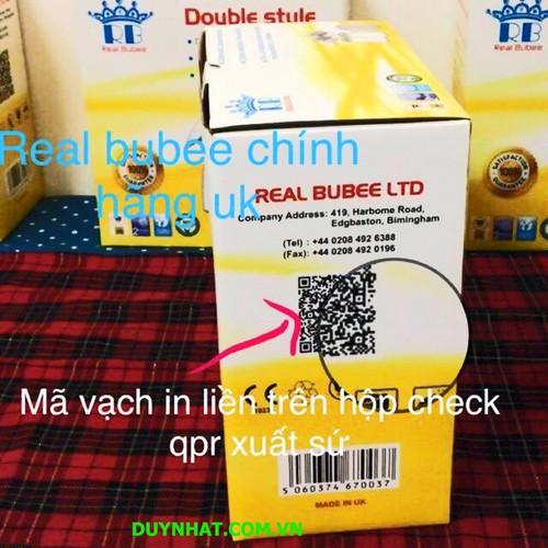 Bộ đồ dùng hút sữa mẹ - Máy hút sữa dùng điện đôi Real Bubee Hiệu Anh