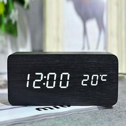 Đồng hồ gỗ LED để bàn