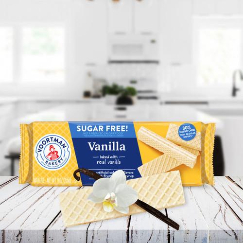 Bánh xốp không đường Voortman vị Vanilla 255g
