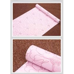 giấy dán tường hoa cuộn 10m khổ 45cm keo sẵn