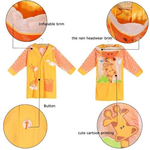 Áo mưa cho bé Mẫu giáo và Tiểu học mẫu Công chúa, Mickey, Thomas, Cars