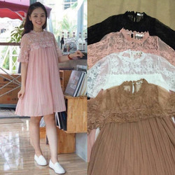 váy ren bầu tay lỡ Quảng Châu