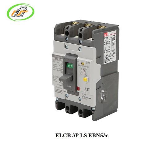 APTOMAT Át khối chống dòng rò ELCB 3P LS EBN53c