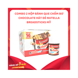 Combo 2 hộp bánh que chấm chocolate hạt dẻ Nutella Breadsticks|banh cham nutella xuất xứ M