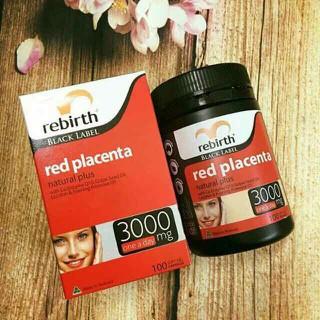 Viên uống nhau thai cừu REBIRTH BLACK LABEL RED PLACENTA 3000MG - Rebirth100 thumbnail