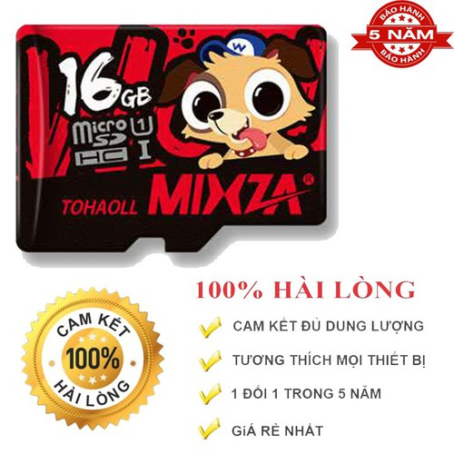 Thẻ nhớ MicroSD 16G MIXZA The Dog Phiên bản giới hạn