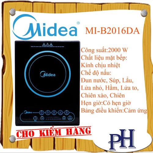 BẾP ĐIỆN TỪ MIDEA MI-B2016DA