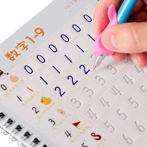 Bộ 3 vở tập tô tập viết tự xóa kèm 3 bút cho bé 4