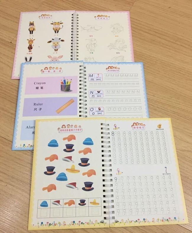 Bộ 3 vở tập tô tập viết tự xóa kèm 3 bút cho bé 2