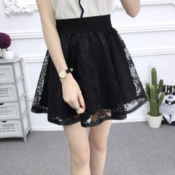 Chân váy ren in hoa ngắn xinh xắn