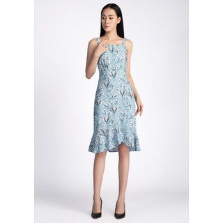 De Leah - Đầm Midi Hoa Cuốn Bèo - Thời trang thiết kế - VL187042X thumbnail