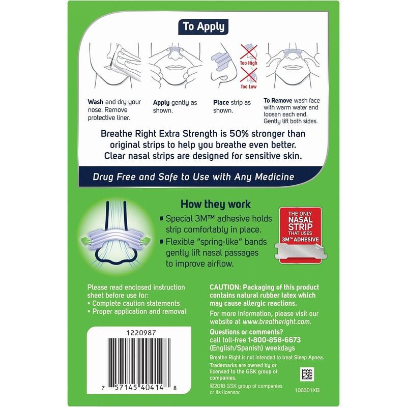 Miếng dán chống ngáy Breath Right dành cho da nhạy cảm loại 72 miếng 2