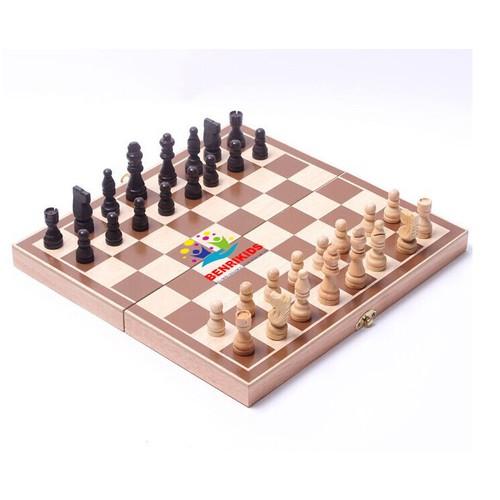 Bộ cờ vua có hộp đựng bằng gỗ tự nhiên benrikids