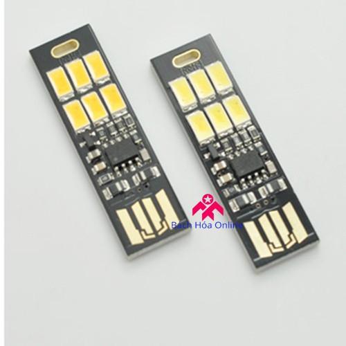 Đèn 6 LED siêu mỏng cắm cổng USB cảm ứng chạm