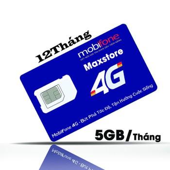 Sim 4G Vina trọn gói 12 Tháng - 5Gb/tháng - Không cần nạp tiền hàng tháng