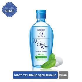 Nước tẩy trang sạch thoáng Senka A.L.L.Clear Water Fresh 230ml - 4909978152888