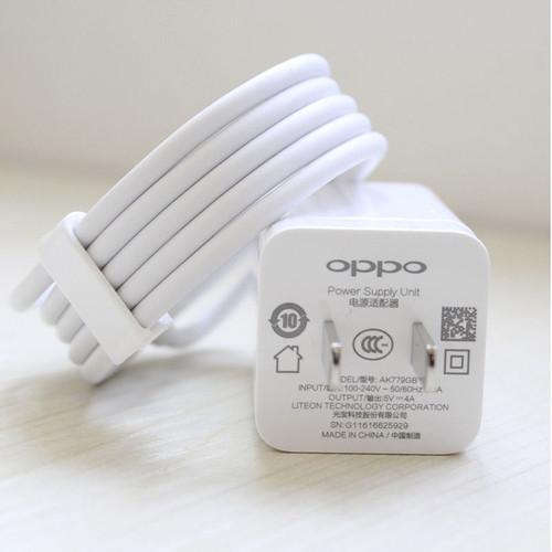 Bộ Sạc Nhanh Oppo F9 CPH1823 VOOC và dây cáp Oppo VOOC 7 pin Zin máy