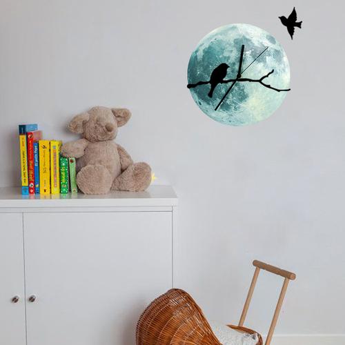 Đồng hồ gỗ treo tượng dạ quang Mặt trăng - Họa tiết chim - 4449692 , 12556655 , 15_12556655 , 300000 , Dong-ho-go-treo-tuong-da-quang-Mat-trang-Hoa-tiet-chim-15_12556655 , sendo.vn , Đồng hồ gỗ treo tượng dạ quang Mặt trăng - Họa tiết chim