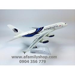 MÔ HÌNH MÁY BAY TĨNH MALAYSIA AIRLINES - MALAY_A380_20CM