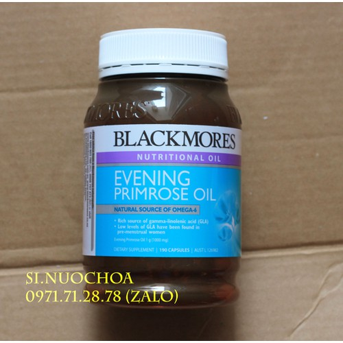 Tinh dầu hoa anh thảo - Blackmores Evening Primrose Oil 190 viên