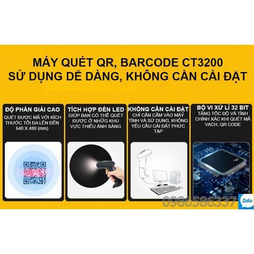Máy quét quét được màn hình,không cần cài đặt Chiteng CT3200 dân dụng