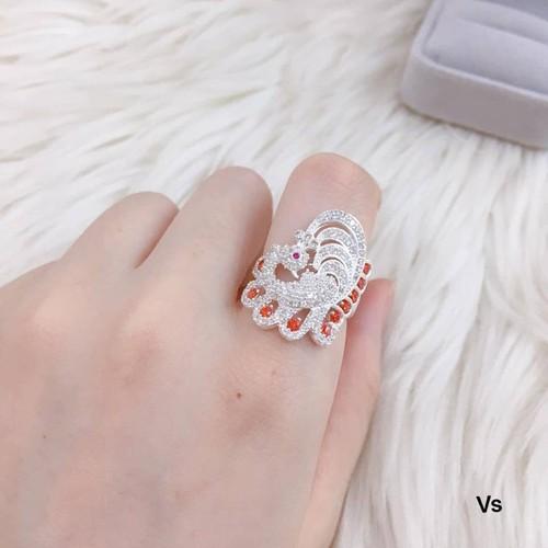 nhẫn bạc nữ đeo ngón trỏ