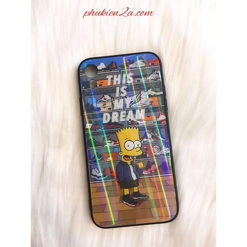 Ốp lưng Iphone XR kính cường lực hình 3D