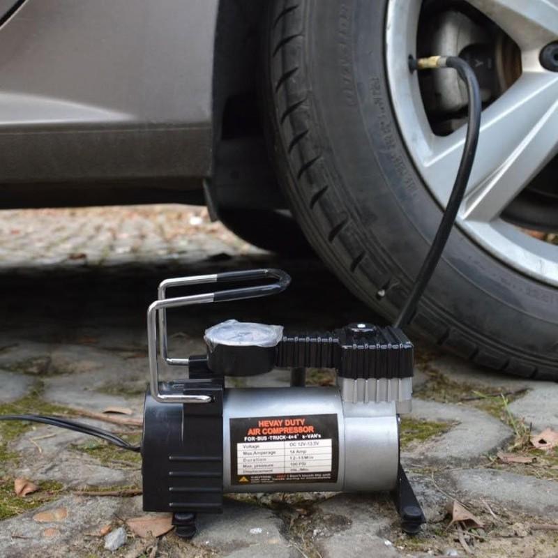 Bơm lốp ô tô mini 12V – May bom lop oto mini 12v – free ship 30k – BL-01