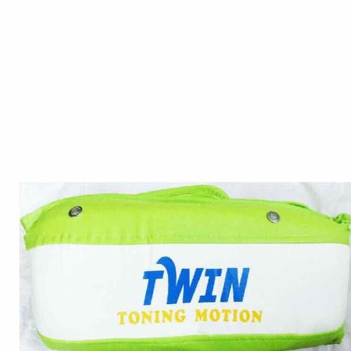 Đai massage bụng rung + nóng 2 motor Twin