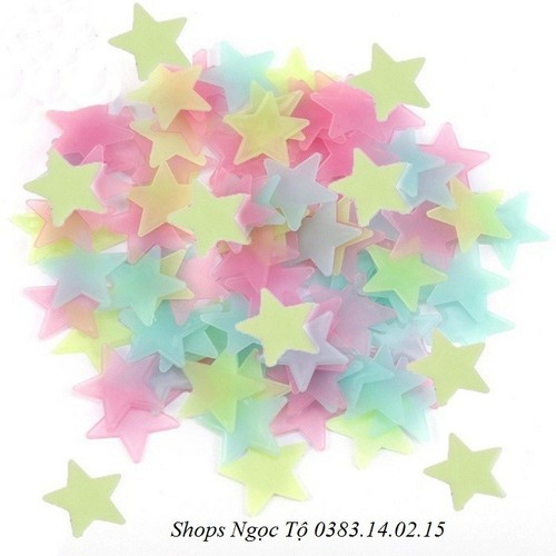 Ngôi sao dán tường dạ quang 3.8cm