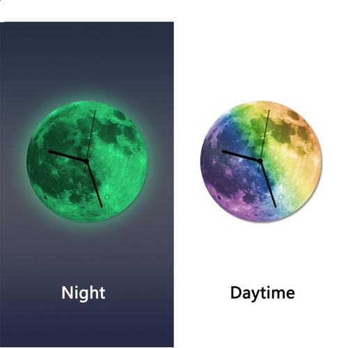 Đồng hồ gỗ treo tượng dạ quang Mặt trăng - 6047942 , 12556303 , 15_12556303 , 290000 , Dong-ho-go-treo-tuong-da-quang-Mat-trang-15_12556303 , sendo.vn , Đồng hồ gỗ treo tượng dạ quang Mặt trăng
