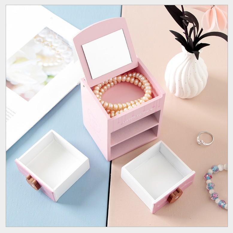 Tủ Mini Đựng Mỹ Phẩm Trang Sức Cute 2