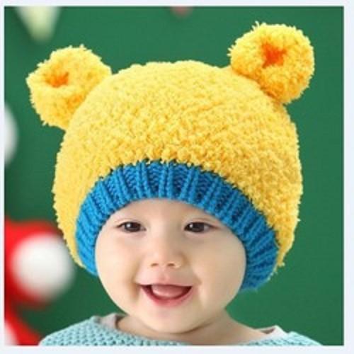 mũ len cho bé tai gấu ml194