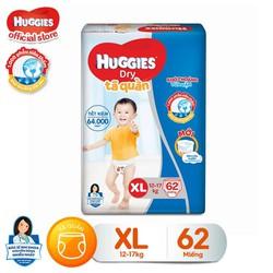 [Nhập SHUGGHUGG30 giảm 30k cho đơn 299k] Tã quần HUGGIES DRY PANTS SUPER JUMBO size XL gói 62 miếng - 8888336017426
