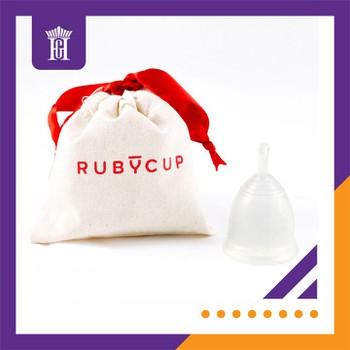 Cốc nguyệt san Ruby cup, Anh, màu Trong Size M, NK độc quyền