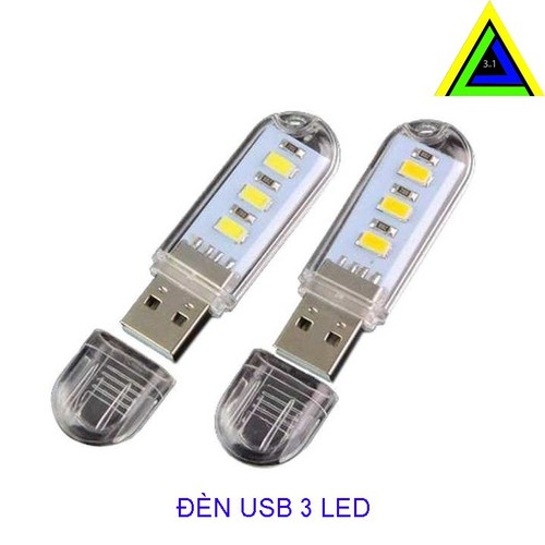 COMBO 3 ĐÈN USB 3 LED SIÊU SÁNG