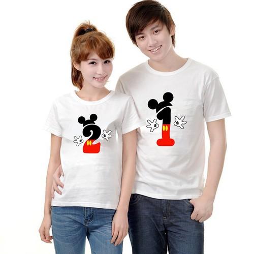 Set 2 áo đôi chuột Mickey xinh xắn