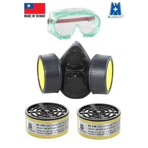 Mặt nạ phòng độc đa năng Blue Eagle Đài Loan kèm kính chống hóa chất