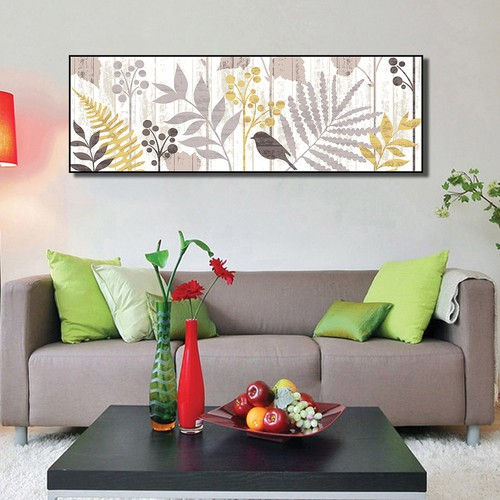 Tranh trang trí phòng khách hiện đại hình lá cây