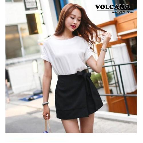 Quần Giả Váy Thắt Nơ Thời Trang Hàn Quốc – Đen