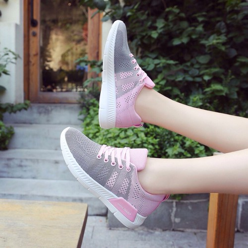 Giày thể thao nữ texo - hồng nhạt ghi