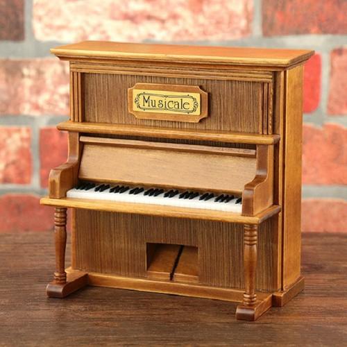 Hộp nhạc Piano gỗ cao cấp dáng đứng