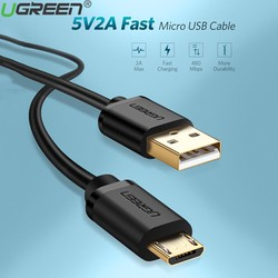 Cáp Sạc Micro USB 50cm Cao Cấp Ugreen 10835