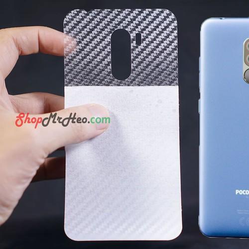 Bộ 3 Skin Dán Mặt Lưng Vân 3D PocoPhone F1 - By Xiaomi
