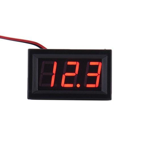 Đồng hồ đo volt DC 4.5-30V -- Chữ màu xanh