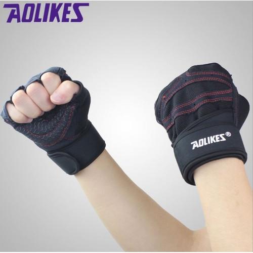 Găng tay tập gym cao cấp có quấn cổ tay AOLIKES - 5646348 , 12078916 , 15_12078916 , 227000 , Gang-tay-tap-gym-cao-cap-co-quan-co-tay-AOLIKES-15_12078916 , sendo.vn , Găng tay tập gym cao cấp có quấn cổ tay AOLIKES