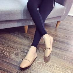 Giày búp bê cột nơ tag vàng |Giày búp bê nữ