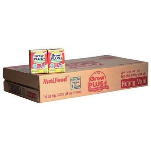 Sữa bột pha sẵn Grow plus nutifood hộp 110ml  Thùng 48 hộp
